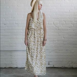 Anthropology DRA X Kelli Murray Daisy maxi dress